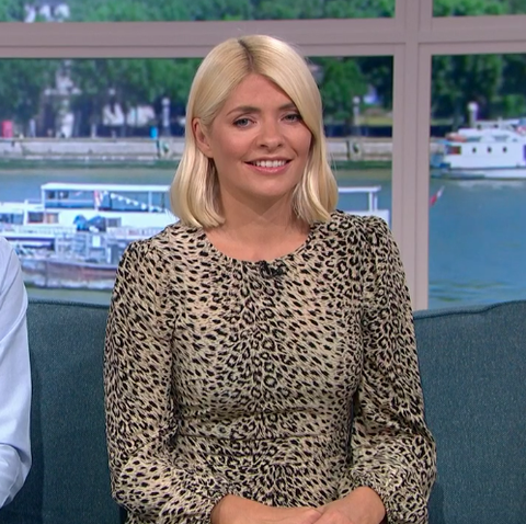 Holly Willoughby leopard print dress