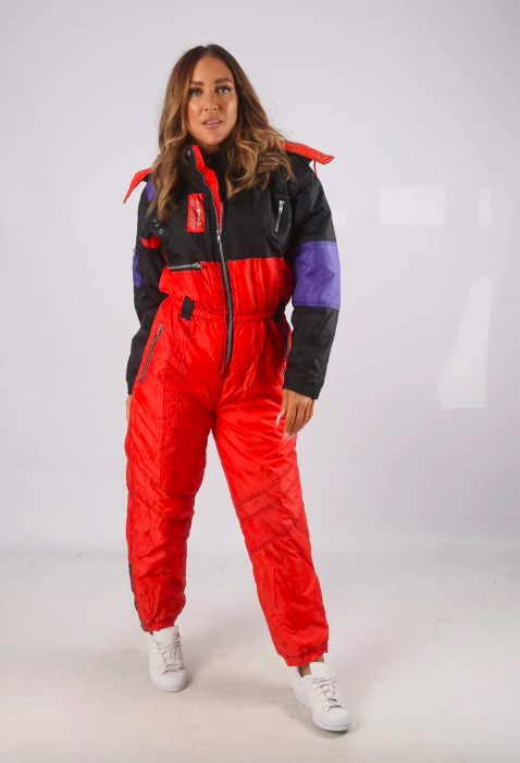 women's ski wear - asos marketplace vintage skisuit