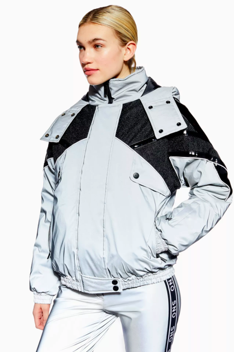 women's ski wear - topshop sno jacket reflective