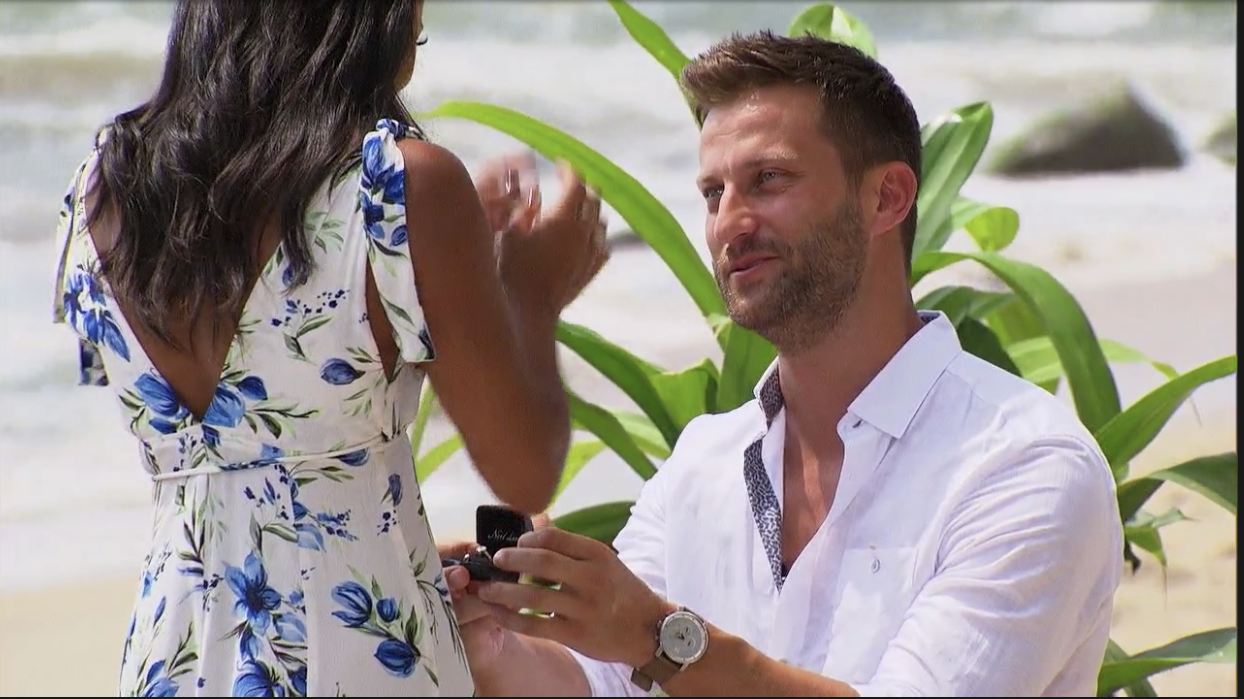 There Was Totally an Editing Mistake During Chris and Katie's Proposal on 'Bachelor in Paradise'