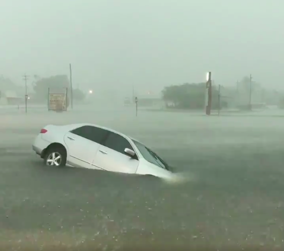 This Video of the Rain and Floods in Texas Should Get Your Mind Racing