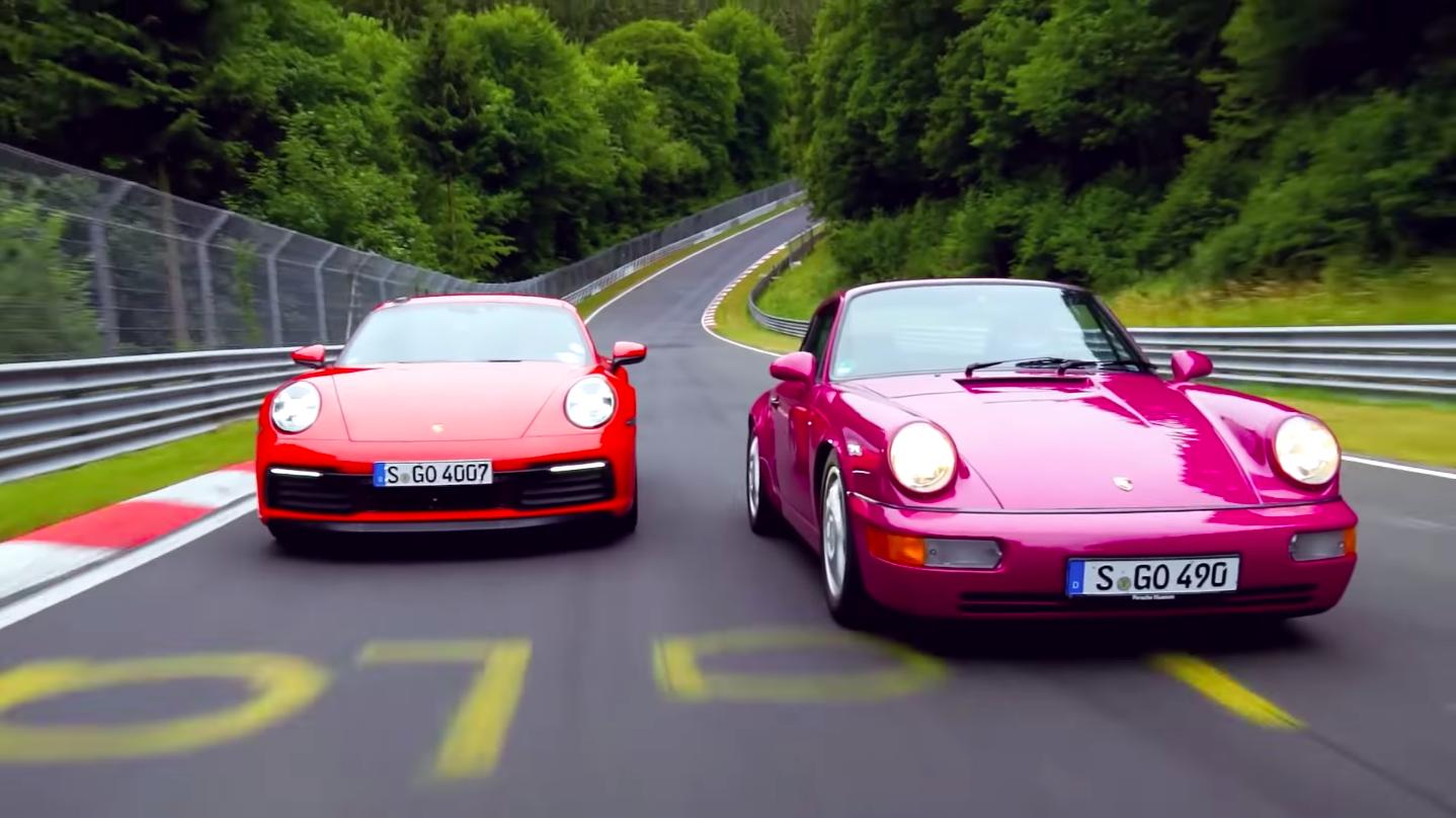 Porsche 992 Vs 964 Nurburgring Showdown Lap Time Videos