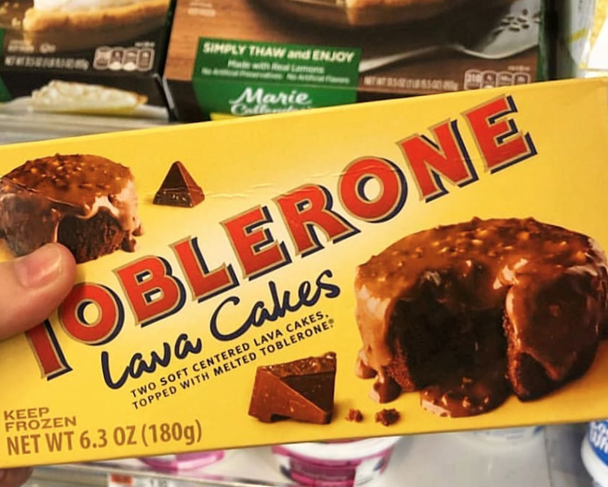 Toblerone Has A Box Of Lava Cakes That Are Topped With The Melted Version Of The Candy Bar