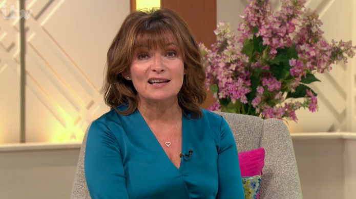 Lorraine glams up for Friday in dressy silky jumpsuit