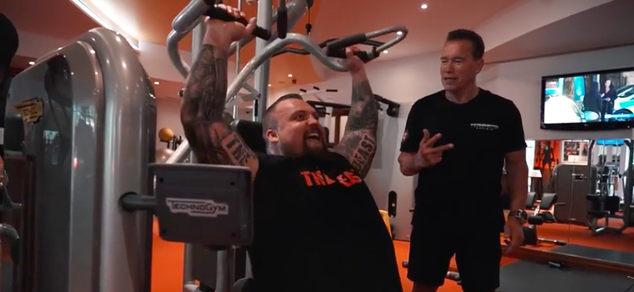 Strongman Eddie Hall Just Worked Out With With Arnold Schwarzenegger