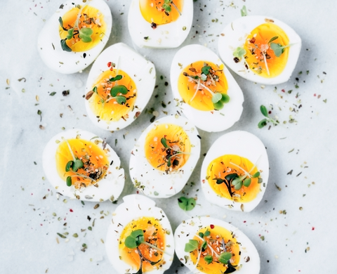 Keto-Friendly Bacon-Cheese Deviled Eggs