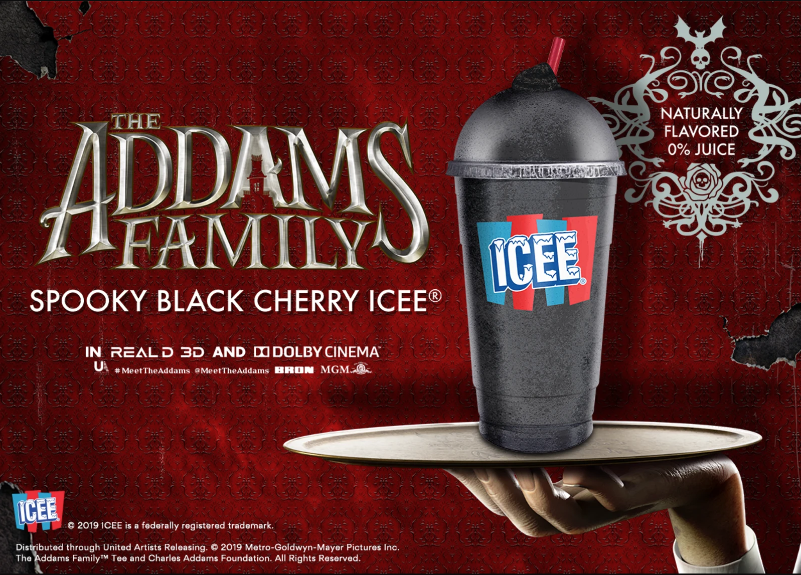You Can Get A Jet Black Icee In Movie Theaters Now In Honor Of The Addams Family Movie