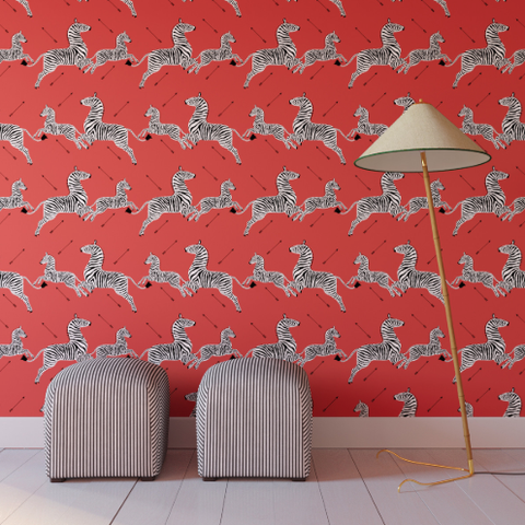 Peel And Stick Scalamandre Zebra Print Wallpaper Can Now Be