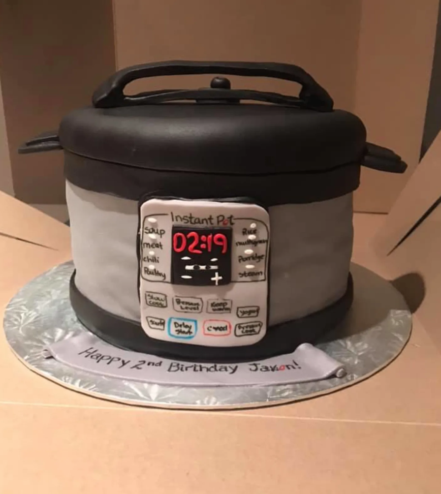 This Kid Is So Obsessed With Instant Pots His Parents Got Him An Instant Pot Cake For His Birthday