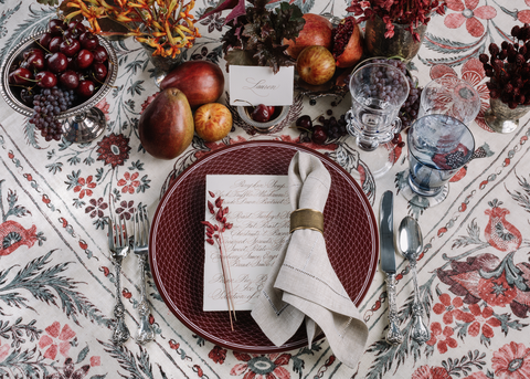 gregory blake sams red table setting