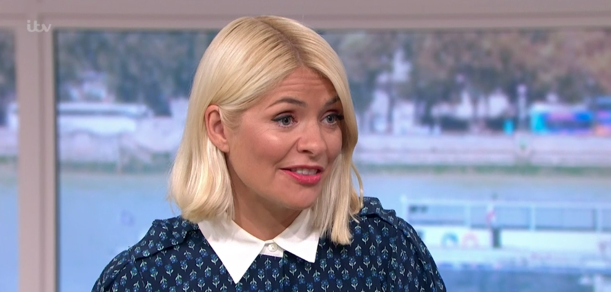 Holly Willoughby is a vision in navy shirt dress