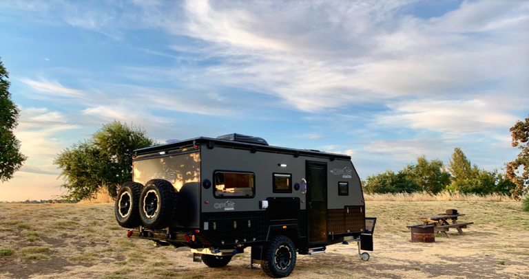 This Compact Off Road Trailer Expands Into A Family Size Camper