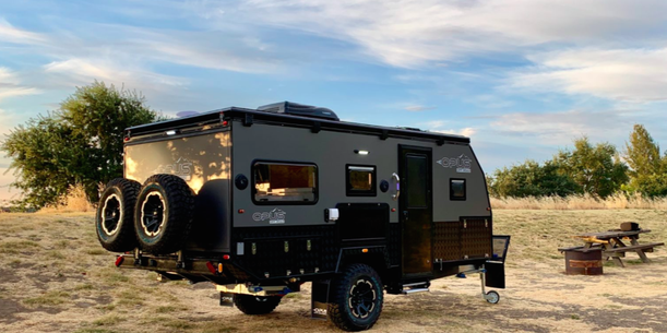 This Trailer Expands Into a Family-Friendly Camper
