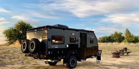 This Off-Road Trailer Expands into a Family-Friendly Camper