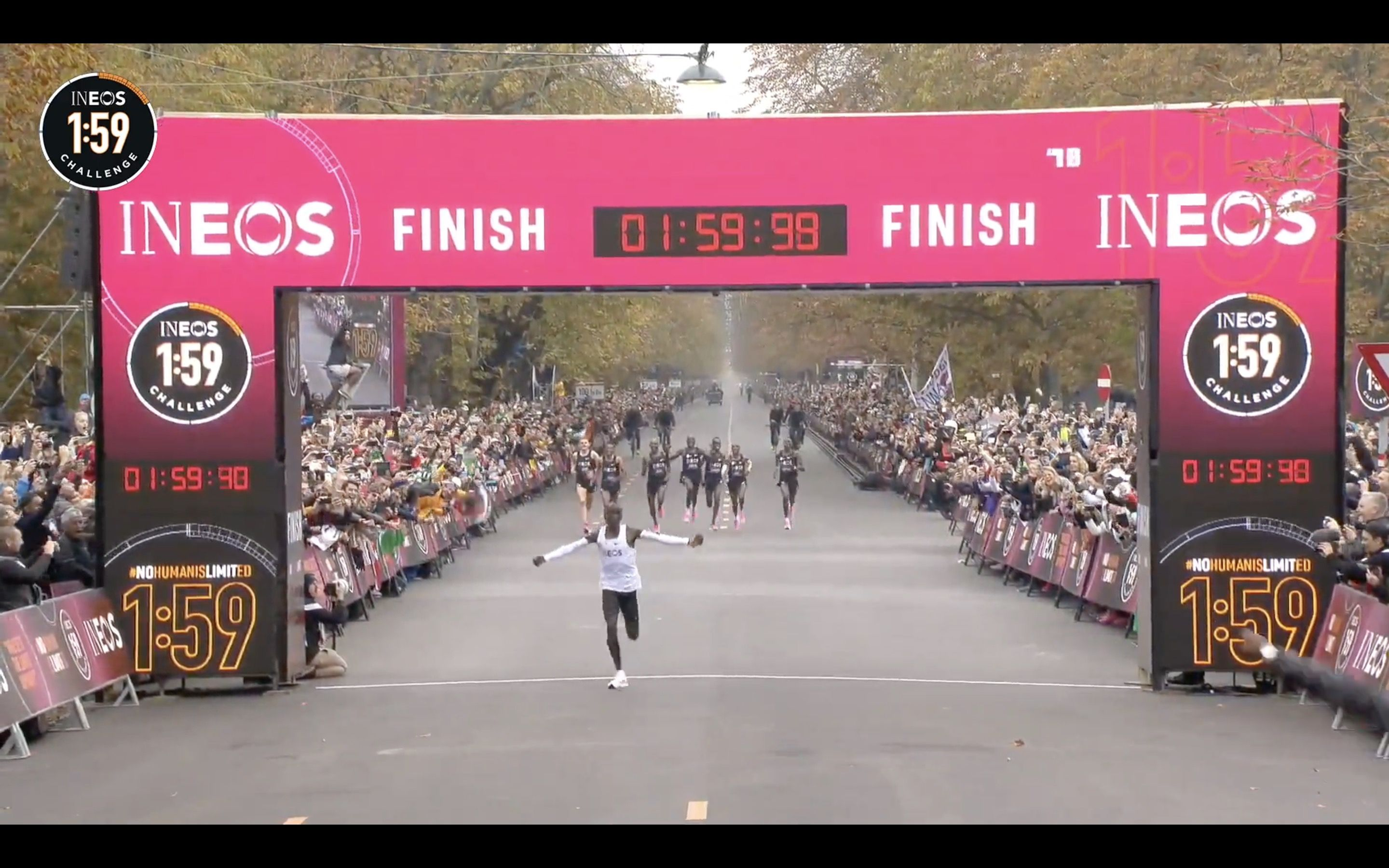 Kipchoge becomes the first man in the world to run a sub-2 marathon