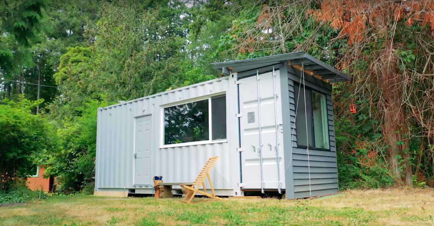 This Guy Turned an Old Shipping Container Into a Tiny House