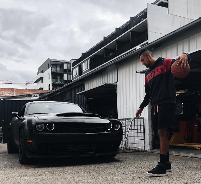Tennis Star Nick Kyrgios's Dodge Challenger SRT Demon Smashes Pole