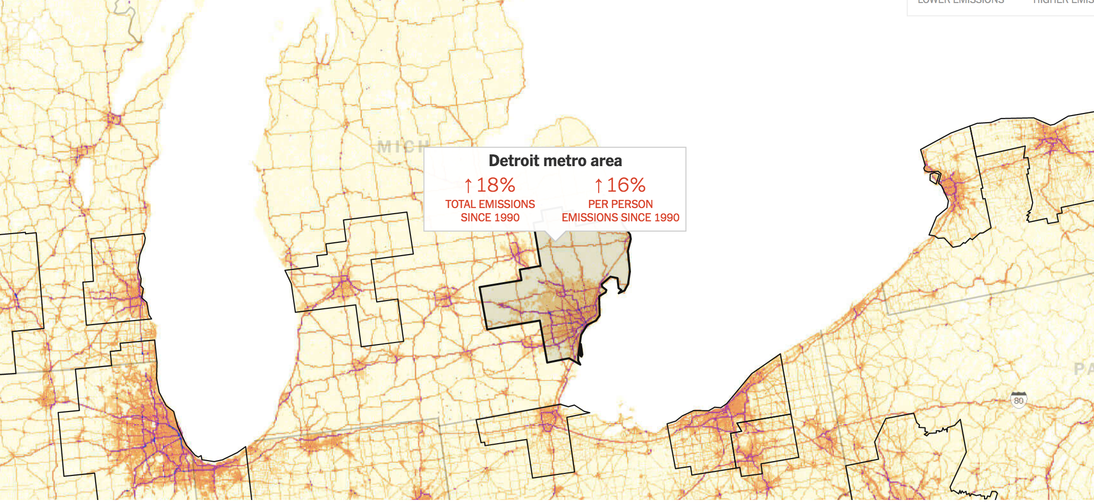 This Maps Shows How Car Emissions Have Increased Where You live