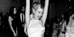 hailey baldwin halter wedding dress