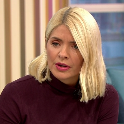 Holly Willoughby's leather trousers are the dream
