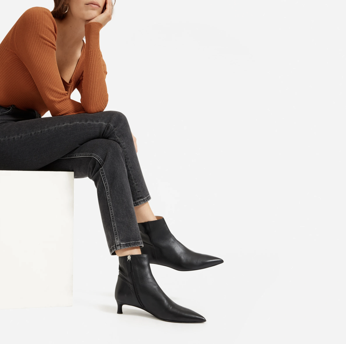 The Perfect Black Ankle Boot Does Not Exi— Wait No, Everlane Just Made It