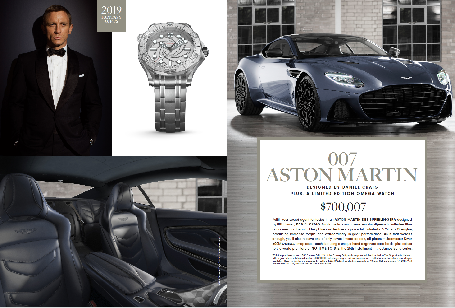 Neiman Marcus Luxury Christmas Gifts For 2020 James Bond–Themed Aston Martin DBS Makes '19 Neiman Marcus Catalog
