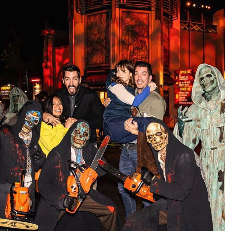 Zooey Deschanel and Jonathan Scott Went on a Spooky Double Date With Drew Scott and Linda Phan
