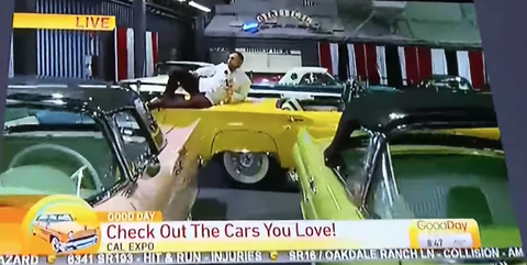 TV Reporter Climbs All Over Classic Cars on Live Camera, Gets Fired