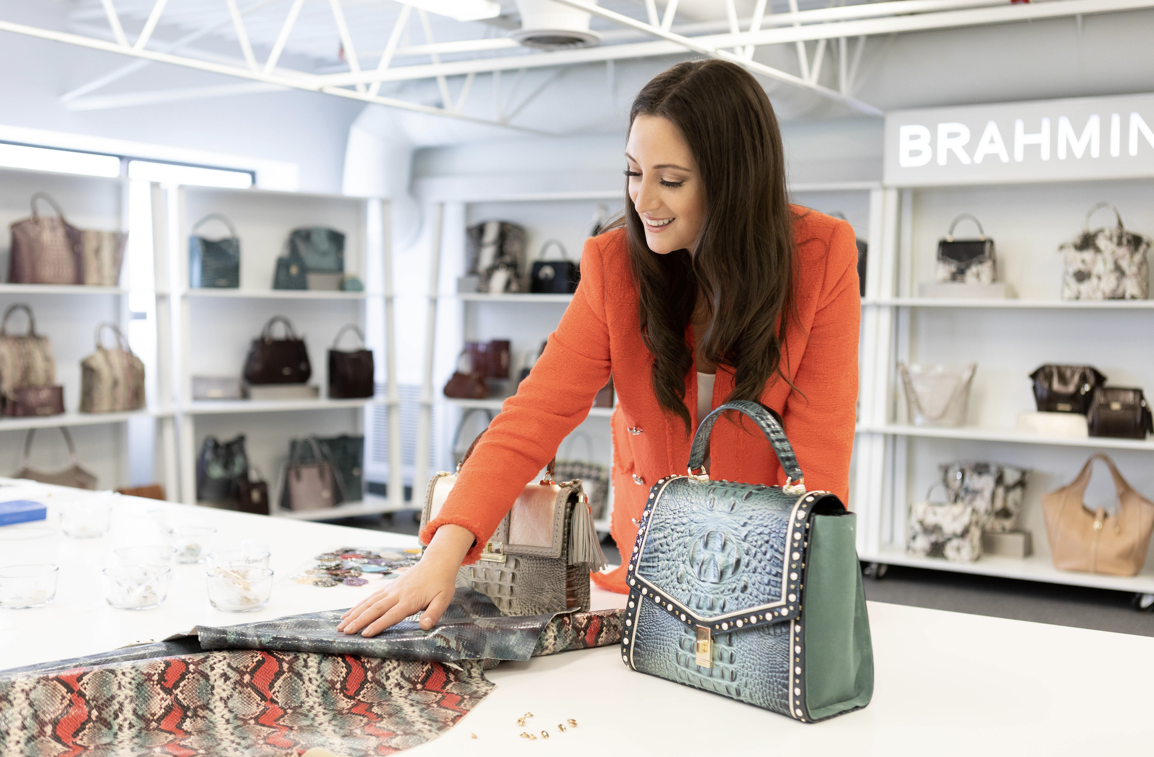 Brahmin x Micaela Erlanger Launch a Holiday Handbag Collection