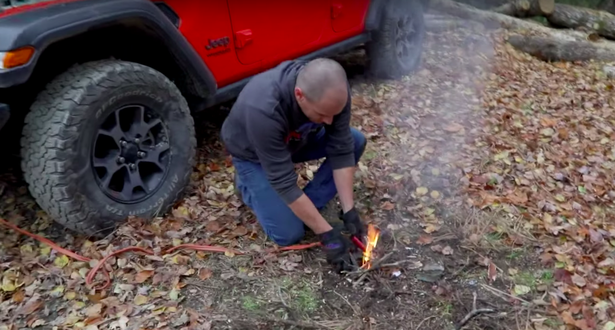 Here Are Some Ways to Start a Fire With Your Car
