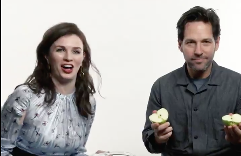 Paul Rudd Can Split An Apple In Half With His Bare Hands