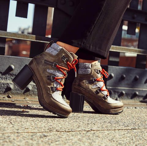 Footwear, Shoe, Street fashion, Leg, Brown, Human leg, Ankle, Snapshot, Fashion, Joint,