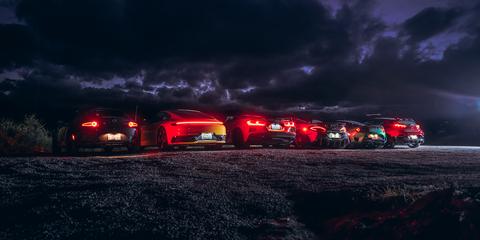 Motor vehicle, Night, Transport, Landscape, Atmosphere, Darkness, Automotive lighting, Midnight, Tent, Storm,