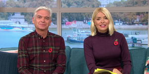 Holly Willoughby knitted rainbow skirt