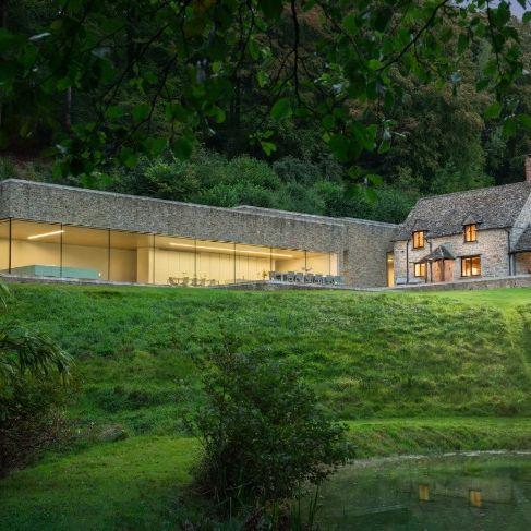 House, Property, Home, Cottage, Natural landscape, Farmhouse, Roof, Building, Land lot, Estate,