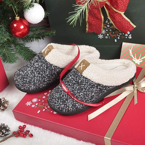 Footwear, Christmas decoration, Shoe, Present, Gift wrapping, Font, Christmas eve, Glitter, Christmas, Interior design,
