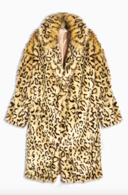 Topshop faux fur coat - topshop black friday
