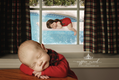 Photographer Recreates Christmas Vacation Scenes With Babies