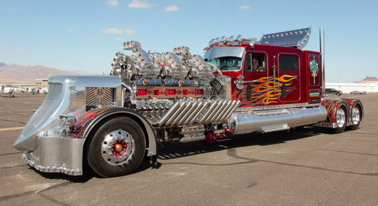 24-Cylinder Monster Truck Big Rig Sells for $12 Million