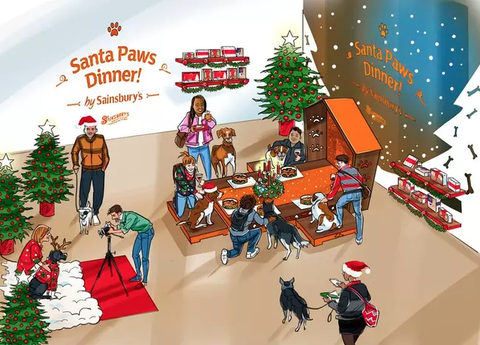 Sainsburys Christmas Pop Up For Dogs Is So Cute