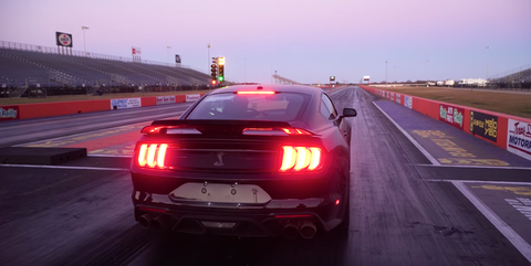 Kid Runs a 10.665 Quarter-Mile in His 2020 Mustang Shelby GT500