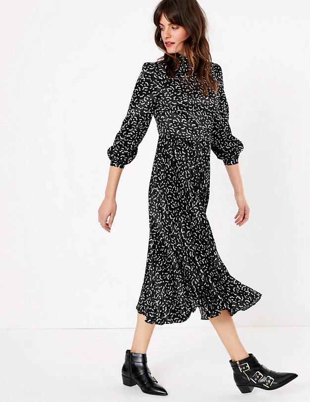 M&S are selling the ideal Christmas dress for day or night