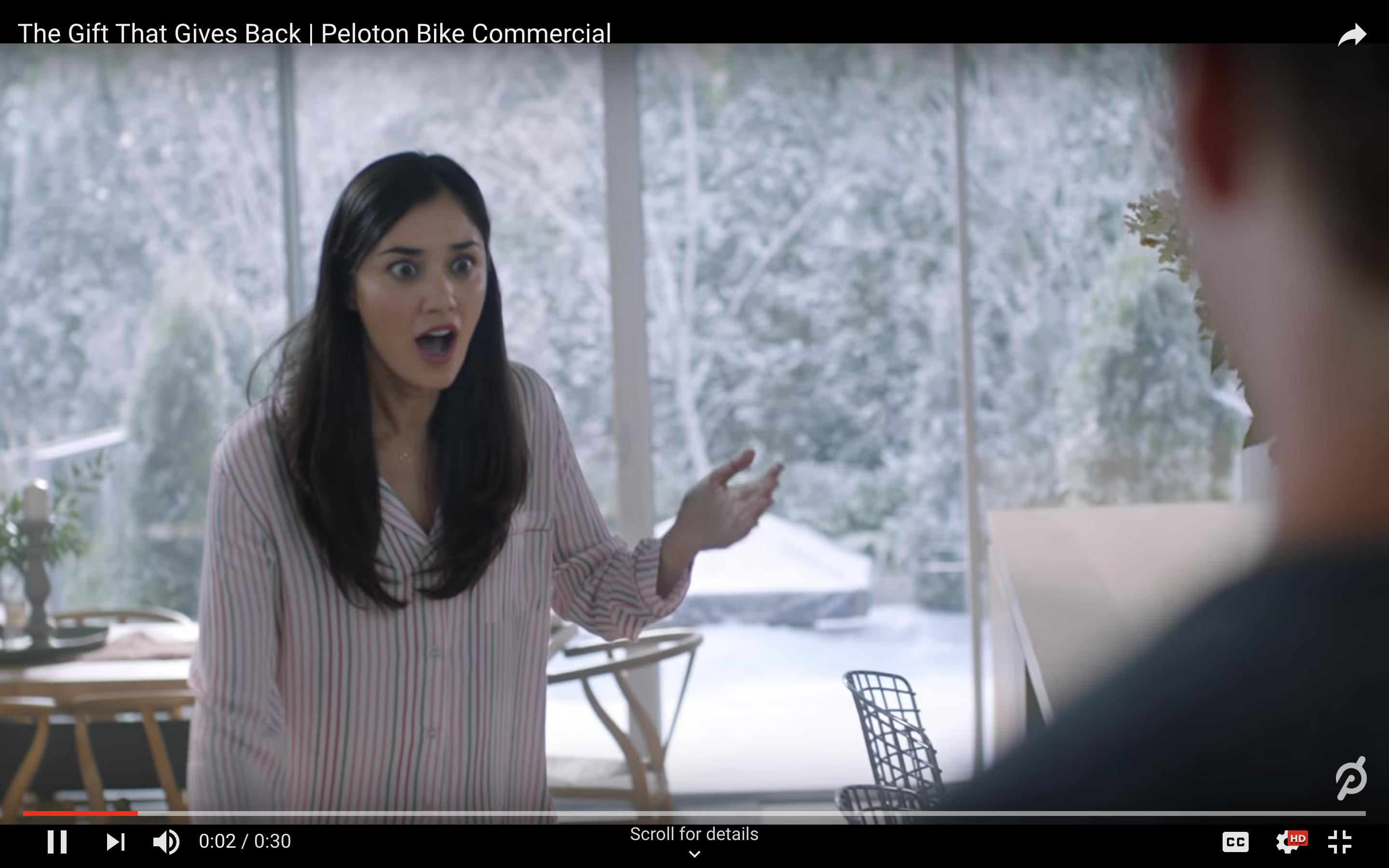Peloton's Odd Christmas Commercial Incites the Furor of Twitter
