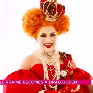 Lorraine Kelly unveils shocking drag transformation