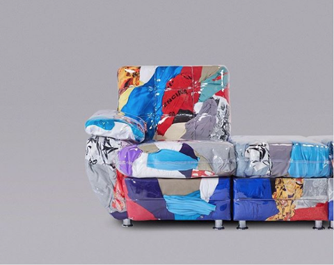 Product, Design, Art, Furniture, Textile, Electric blue, Modern art, Fictional character, Fashion accessory, Still life,