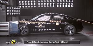 Porsche Taycan crash test