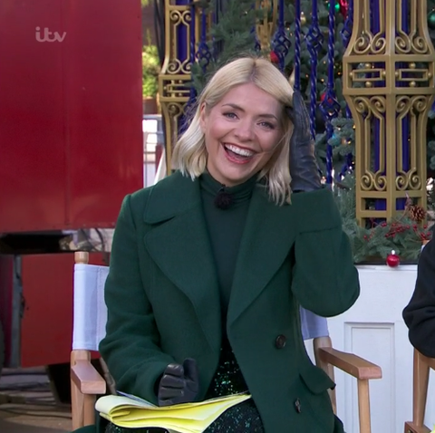 Holly Willoughby embraces sequins in festive ensemble