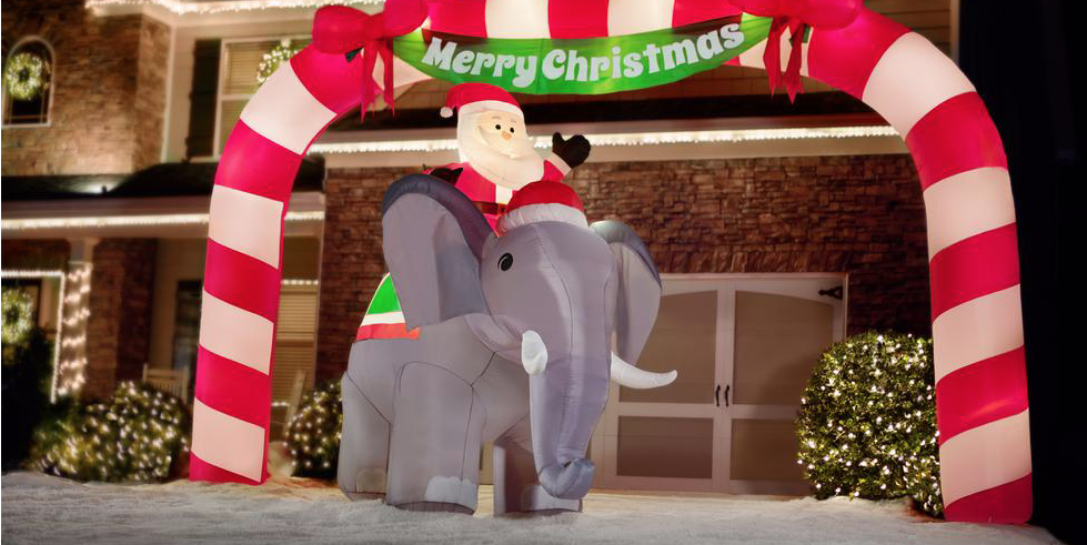 You Can Buy A Lawn Inflatable Of Santa On An Elephant Polish your personal project or design with these elephants transparent png images, make it even more personalized and more attractive. lawn inflatable of santa on an elephant