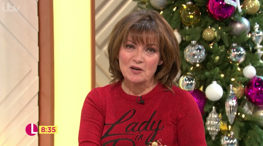 Lorraine Kelly stuns in chic Christmas jumper