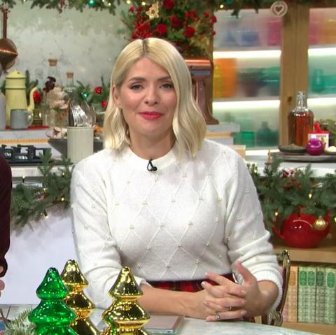 Holly Willoughby festive tartan skirt